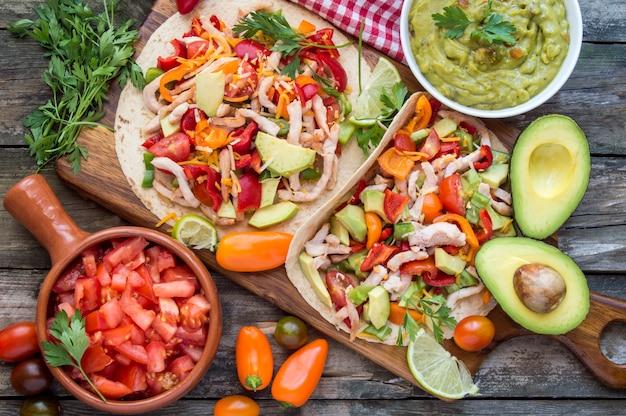 Tortilhas com legumes
