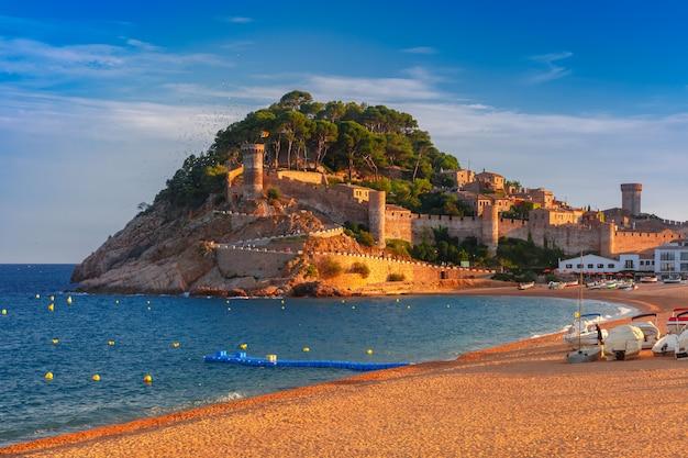 Tossa de mar na costa brava, catalunha, espanha
