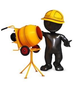 Trabalhador da construção fazendo o seu trabalho