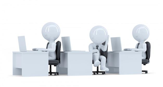 Trabalhador de escritório entediado. isolado. contém o traçado de recorte
