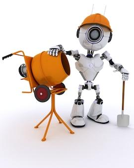 Trabalhador do robô de construção