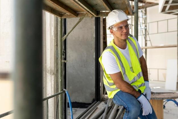 Trabalhador em uma construção