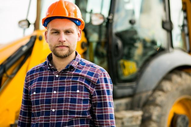 Trabalhador, homem, engenharia, engenheiro, construção