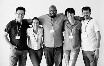 Trabalhadores, ficar, junto, diversidade