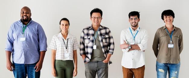 Trabalhadores unidos diversidade