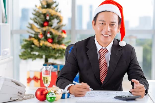 Trabalhando no dia de natal
