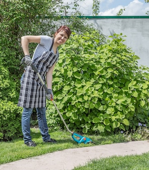 Trabalhando no jardim