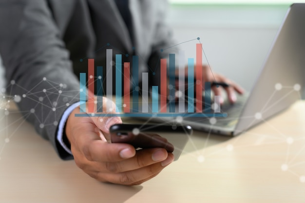 Trabalhe duro data analytics statistics information