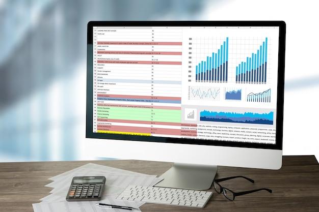 Trabalhe duro data analytics statistics tecnologia da informação e negócios