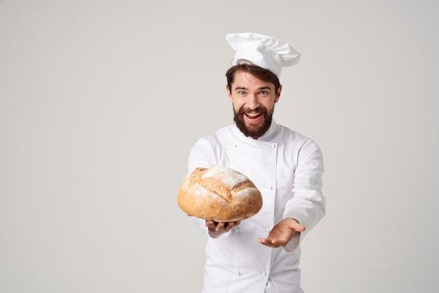 Trabalho de cozinha de chef, produtos de panificação, indústria culinária