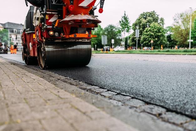 Trabalho de reparação de estradas.