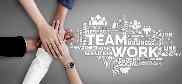 Trabalho em equipe e recursos humanos de negócios