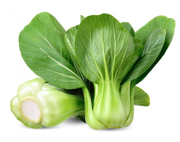 Traçado de recorte bok choy vegetal isolado