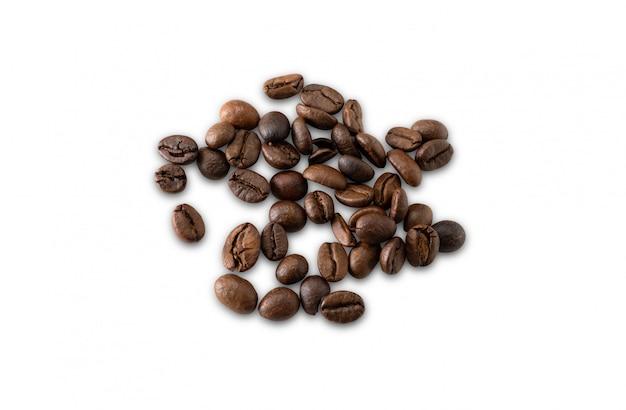 Traçado de recorte isolado de café em branco