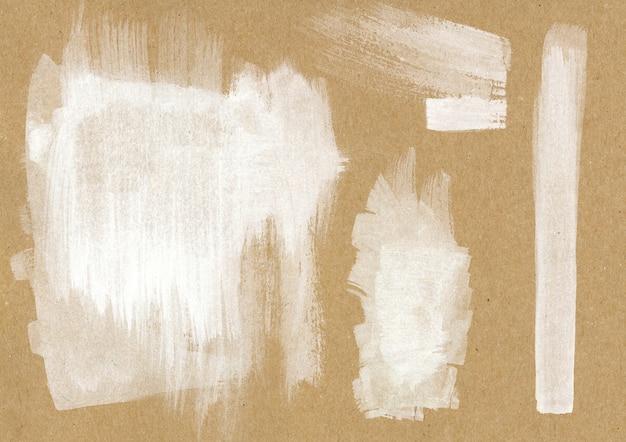 Traçados de pincel branco