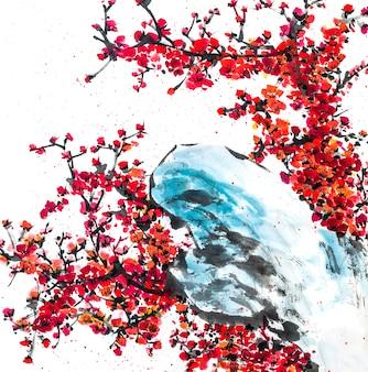 Tradição do elemento branco beleza ano jardim