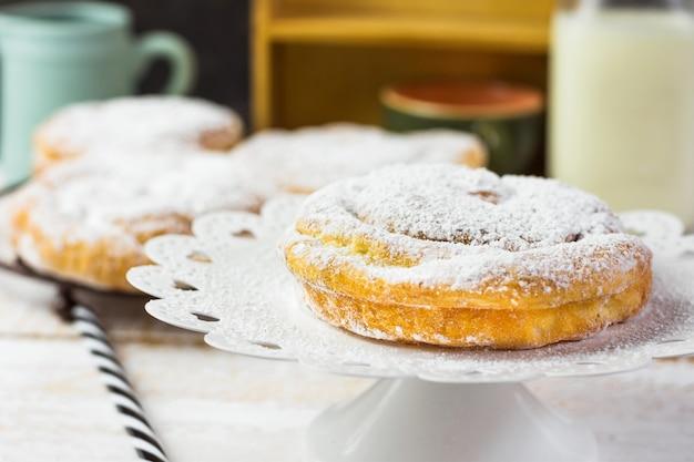 Tradicional espanhol ou filipino pastelaria ensaimada.