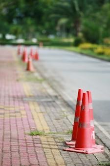 Tráfego de cone de estrada, aviso de rua