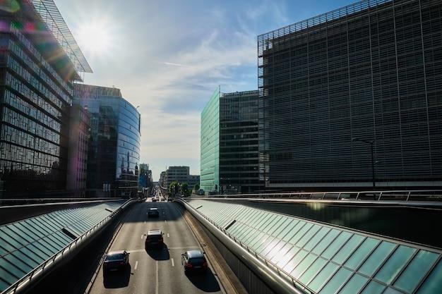 Tráfego de rua em bruxelas