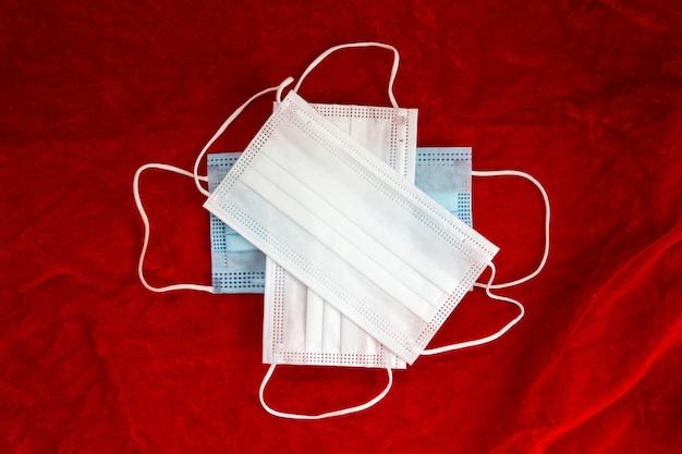 Traje de papai noel traje tecido textura de fundo conceito de natal closeup