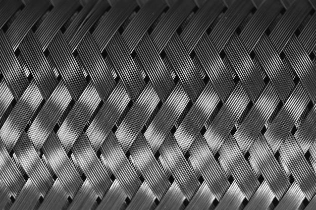 Trança de fio de metal horizontal