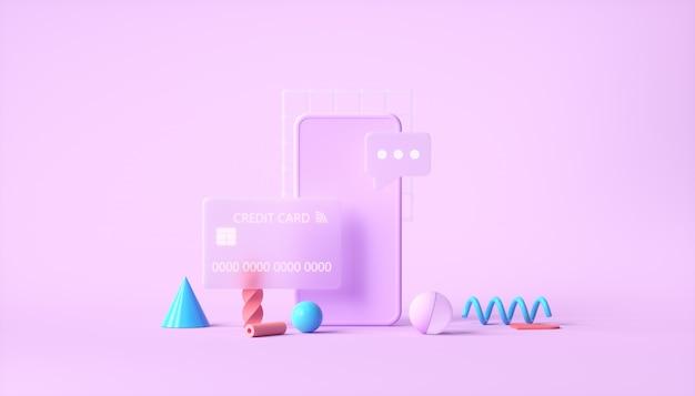 Transação de pagamento online segura com smartphones e internet banking Foto Premium