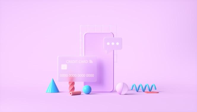 Transação de pagamento online segura com smartphones e internet banking