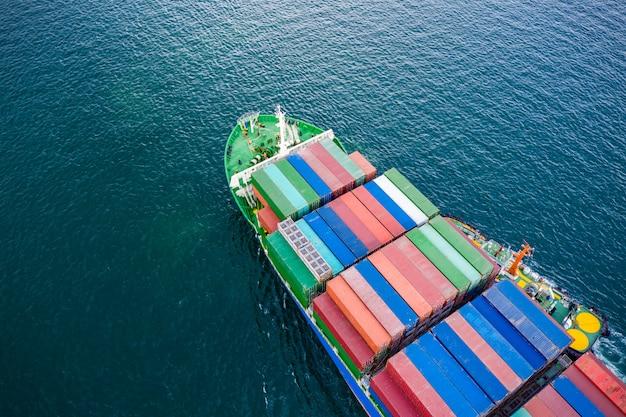 Transações de contêineres de negócios mar aberto pacífico