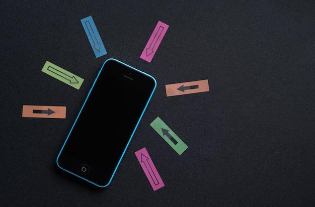 Transbordar informações no celular