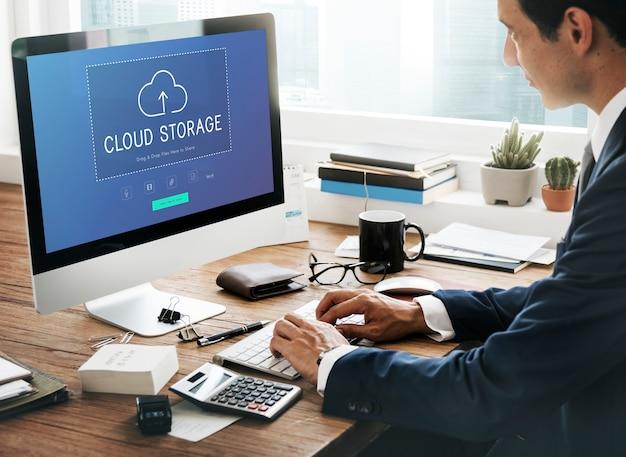 Transferência de armazenamento em nuvem e tecnologia de gerenciamento de dados de download