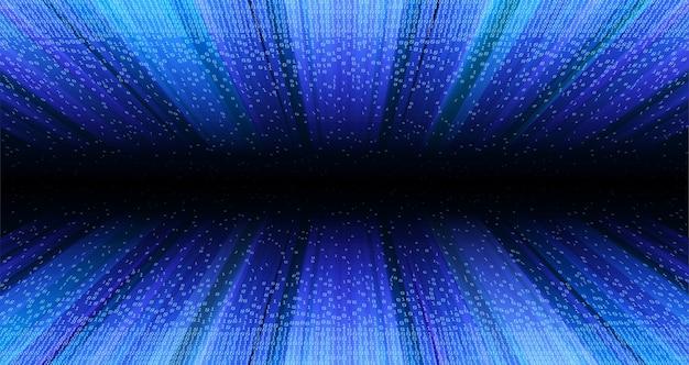 Transferência de dados. o túnel de dados estruturais. tecnologia digital de código binário. do caos ao sistema. artificial intelligence.big data.smart system.