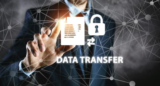 Transferência segura de data de conceito de negócio.