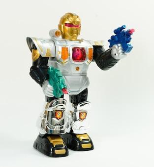 Transformador de robô colorido de plástico