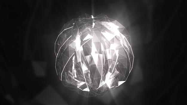 Transformando a música abstrata cristal superfície 3d ilustração