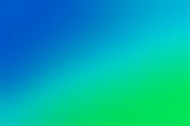 Transição suave no azul para o verde