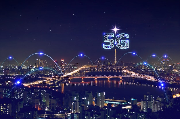 Transmissão de grande volume de dados da rede 5g