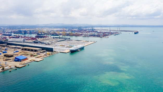 Transportadora de importação e exportação internacional no mar