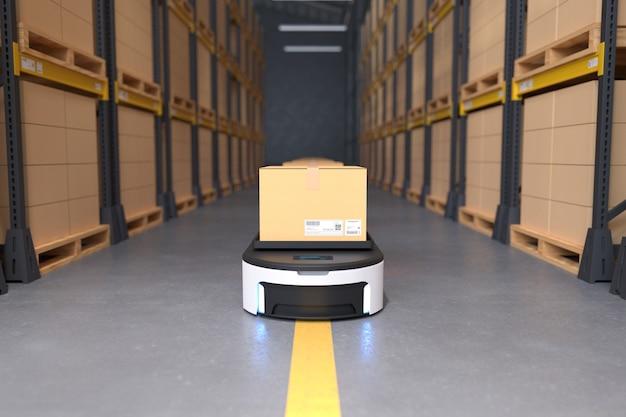 Transporte autônomo de robôs em depósitos