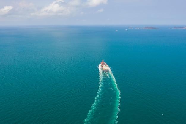 Transporte de negócios contêineres de carga oceanos susto