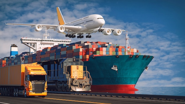 Transporte e logística.