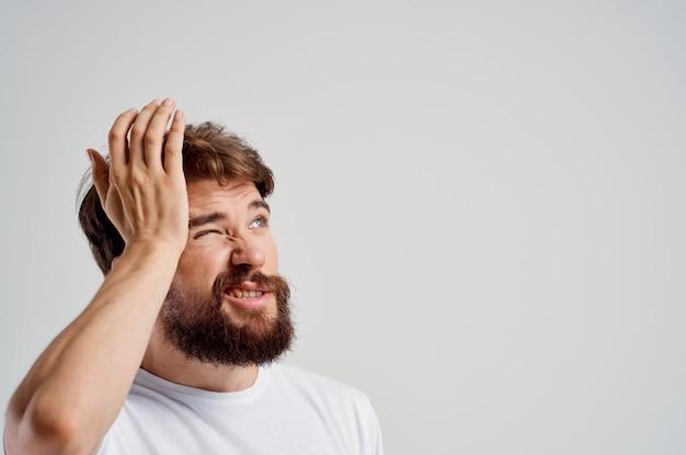 Tratamento de estúdio de transtorno de estresse de problemas de saúde de homem enxaqueca