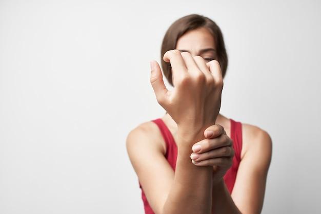 Tratamento de problemas de saúde de composição de braço lesionado