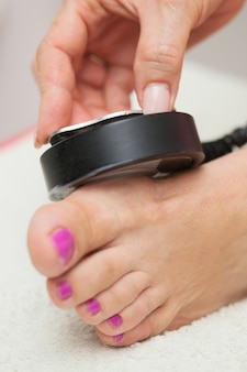 Tratamento de ultra-som no pé