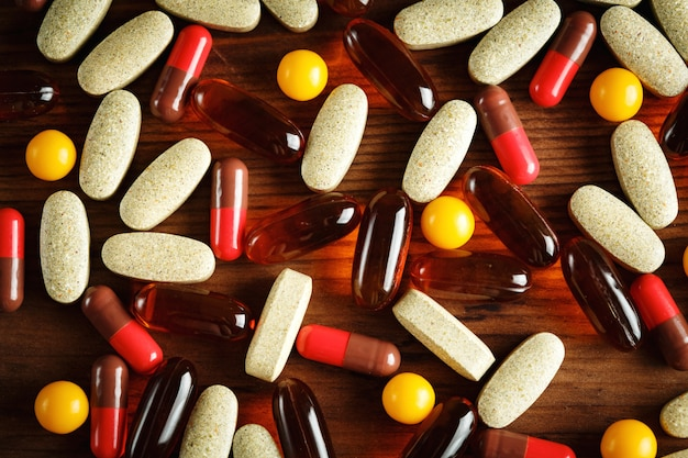 Tratamento dietético orgânico, cápsulas de vitamina