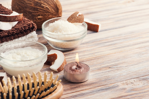 Tratamento natural do cabelo com coco