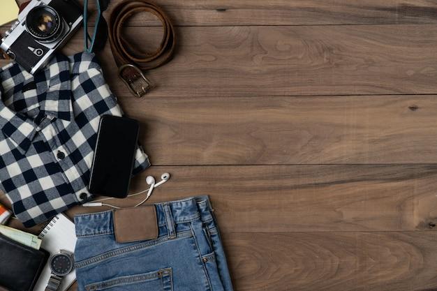 Travel accessories, travel fundo plano colocar objeto.