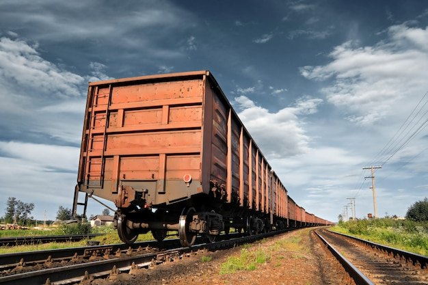 Treinador ferroviário de carga
