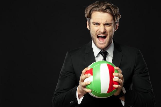Treinador, negócios, desporto em fundo preto