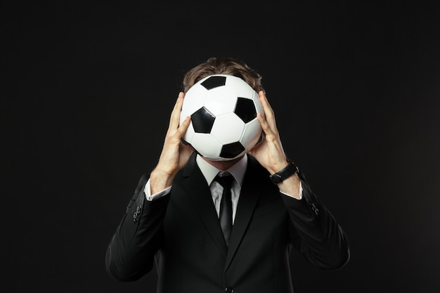 Treinador, negócios, esporte em preto