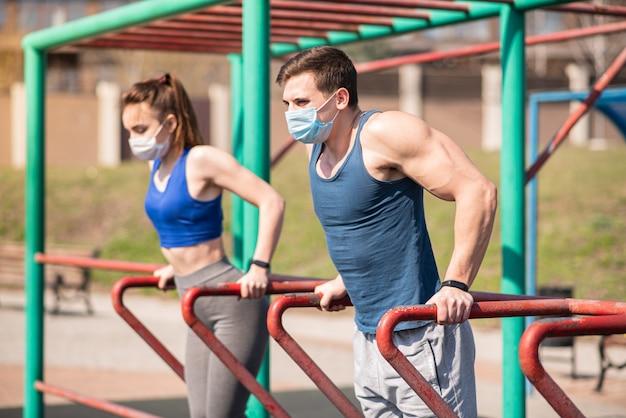 Treinamento ao ar livre durante uma pandemia